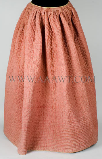 Antique Skirt, Petticoat, Quilted, entire view