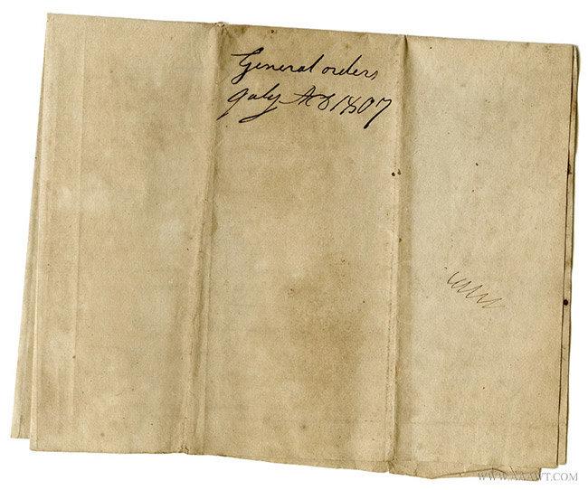 ALS, General Orders, 1807, Massachusetts Militia