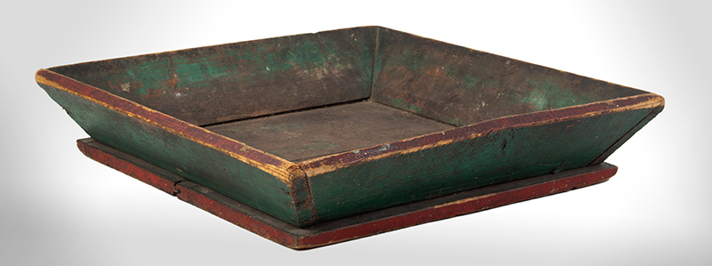 Antique Apple Box, Canted Sides, Original Paint Anonymous, Second Half, 19th Century Pine, entire view 1