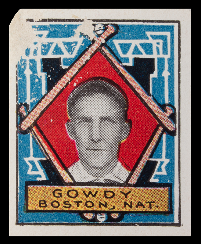 Hank Gowdy Archive, 1914 World Series, Most Valuable Player, WWI Hero, stamp view