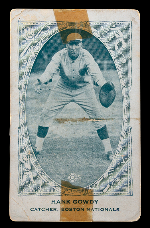 Hank Gowdy Archive, 1914 World Series, Most Valuable Player, WWI Hero, card face view