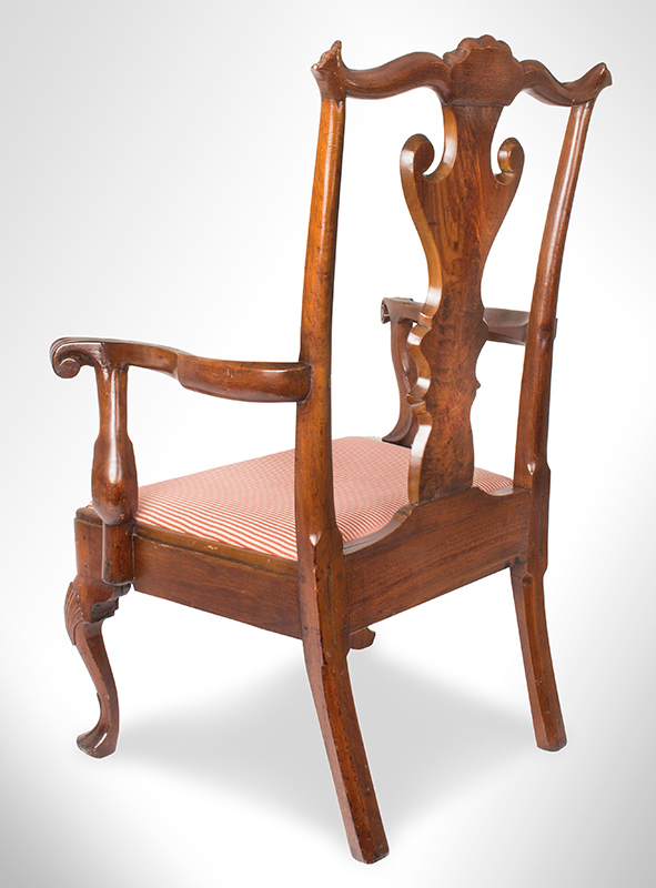 Queen Anne Armchair Philadelphia, Pennsylvania Walnut and pine, circa 1745 – 1760, angle view