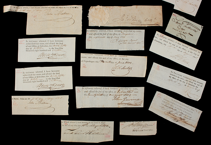 Researcher Special: 18th & 19th Century Clipped Autograph Archive, detail view 1