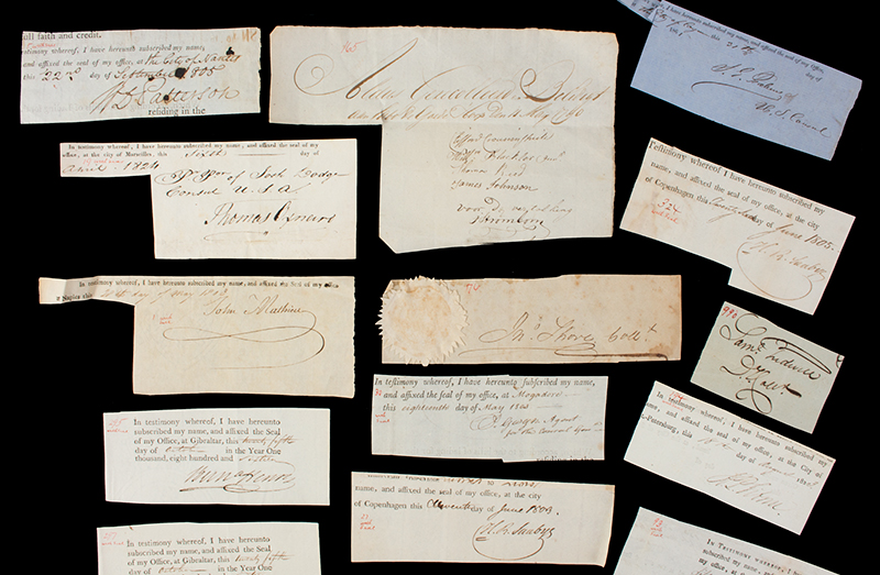 Researcher Special: 18th & 19th Century Clipped Autograph Archive, detail view 2
