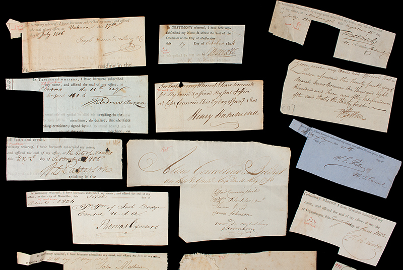 Researcher Special: 18th & 19th Century Clipped Autograph Archive, detail view 3