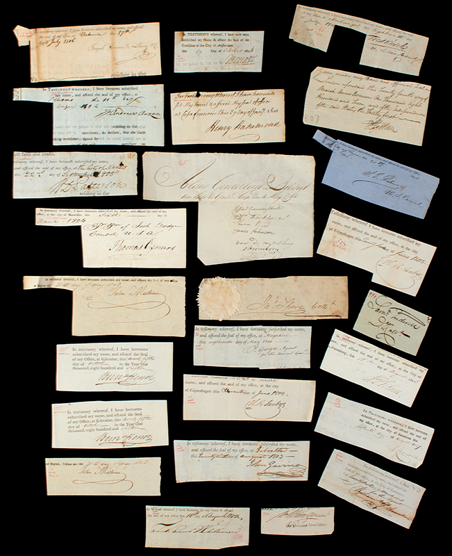 Researcher Special: 18th & 19th Century Clipped Autograph Archive, entire view