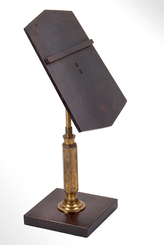 Bakelite and Brass Shoe Store Display Stand, entire view