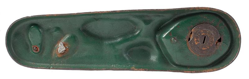 Antique, Mechanical Bank, Creedmoor, J&E Stevens, Cast Iron, 90% Plus Paint Cromwell, Connecticut, 1877-1890, bottom view