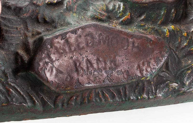 Antique, Mechanical Bank, Creedmoor, J&E Stevens, Cast Iron, 90% Plus Paint Cromwell, Connecticut, 1877-1890, detail view 2