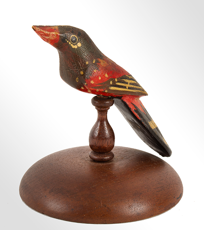 Folk Carved and Painted Bird, Fluid and Exuberant Decoration    Anonymous, In the Circle of the Pennsylvania carvers, circa 1890-1925