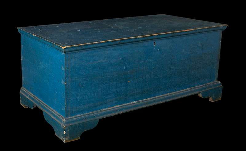 Antique Blanket Chest Six Board