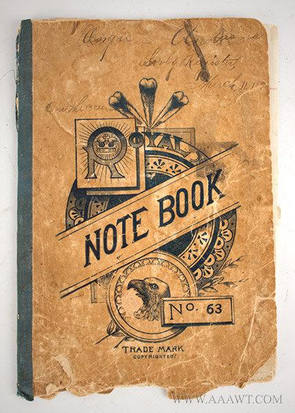 Manuscript, Notebook:  Popular 19th Century Song Lyrics
