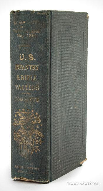 US Infantry & Rifle Tactics Complete, 1861, Hardee's Tactics, Standard War Dept. Manual J.B. Lippincott & Co., Philadelphia, entire view