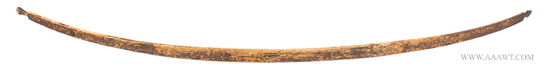 Long Bow, Native American, Incised, Original Surface, Anonymous, Possibly Northeast Woodlands, Circa 1830-1840
