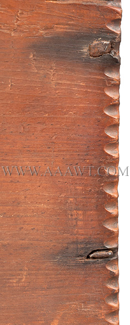 A Period American William & Mary Tabletop Box, Original Surface, Bible, Writing New England, Early 18th Century, corner detail