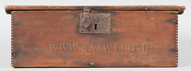 A Period American William & Mary Tabletop Box, Original Surface, Bible, Writing New England, Early 18th Century, entire view 3