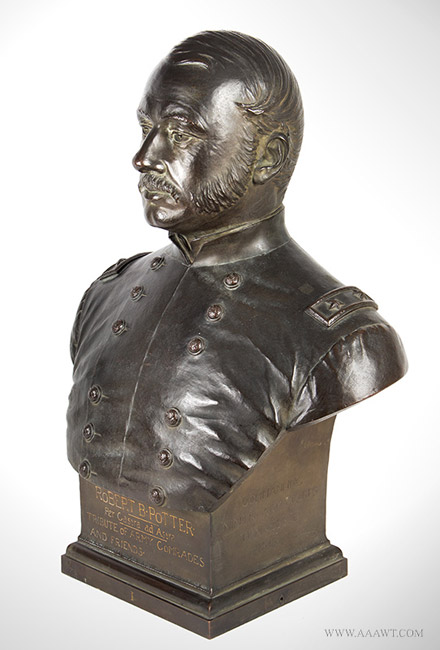 Bronze Bust, General (1829 to 1887) by William Clark Noble (1858 to 1938) 1888