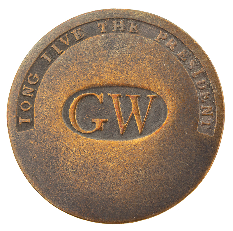 Inagural Button, George Washington, 1789, Long LIve the President
