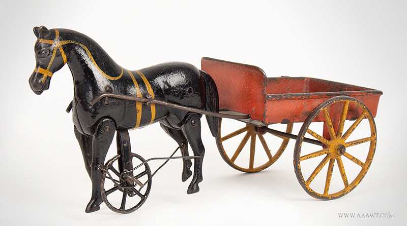 'Victory' Articulated Horse with Bittersweet Painted Wagon