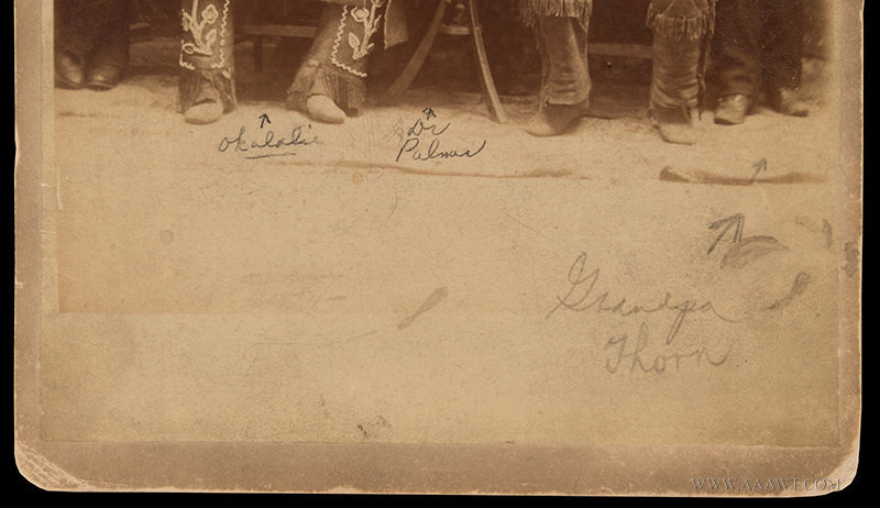 Cabinet Card, Indian Medicine Show, Sagwa; Cure All Product!