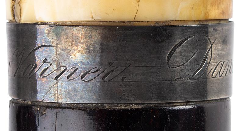 Daniel Webster Carved Ivory Bust Topped Cane Daniel Webster By Henry Varner Among the most impressive political canes we have encountered, engraving detail 2