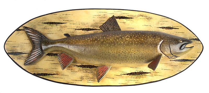 Lawrence Irvine, Carved and Painted Lake Trout, Maine Lawrence Irvine, Winthrop, Maine, (1918-1998), entire view