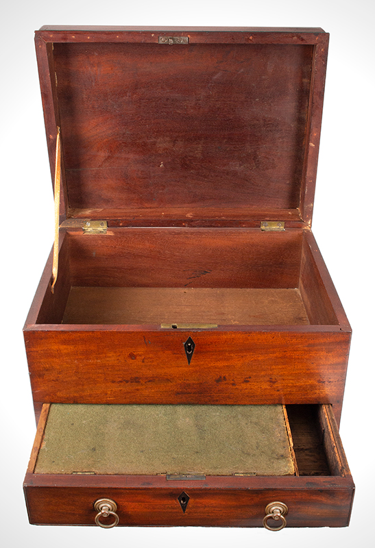 Antique Writing Stand, Hepplewhite Desk Box on Frame, Writing Slope 
