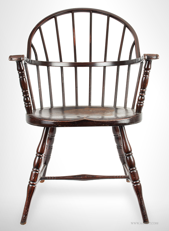 Paint Decorated Steel Windsor Armchair,