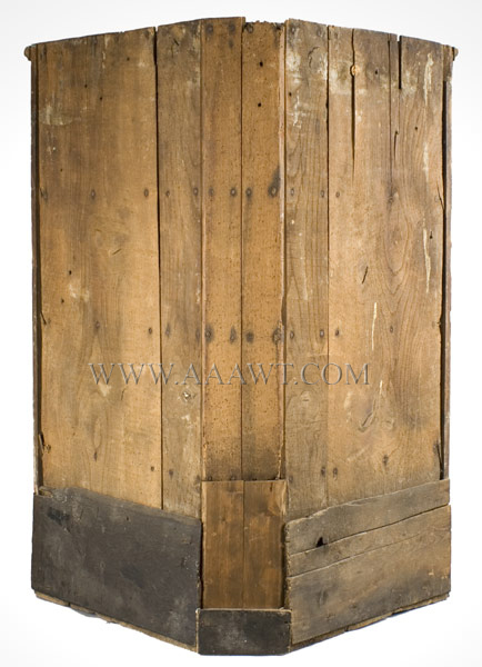 18th Century Hanging Corner Cupboard England, back view