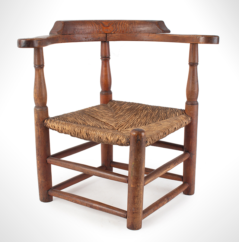 Child's Corner Chair, Youth's Round-A-Bout, RARE New England, 18th Century Maple and pine We have never seen another, entire view 1