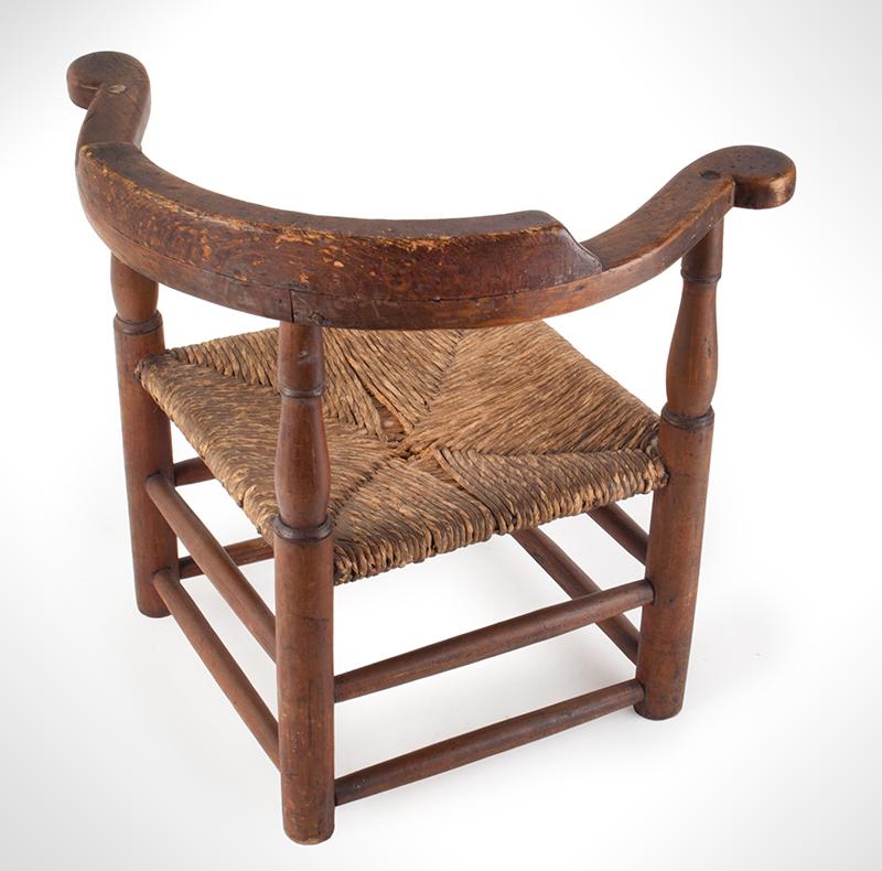 Child's Corner Chair, Youth's Round-A-Bout, RARE New England, 18th Century Maple and pine We have never seen another, entire view 4