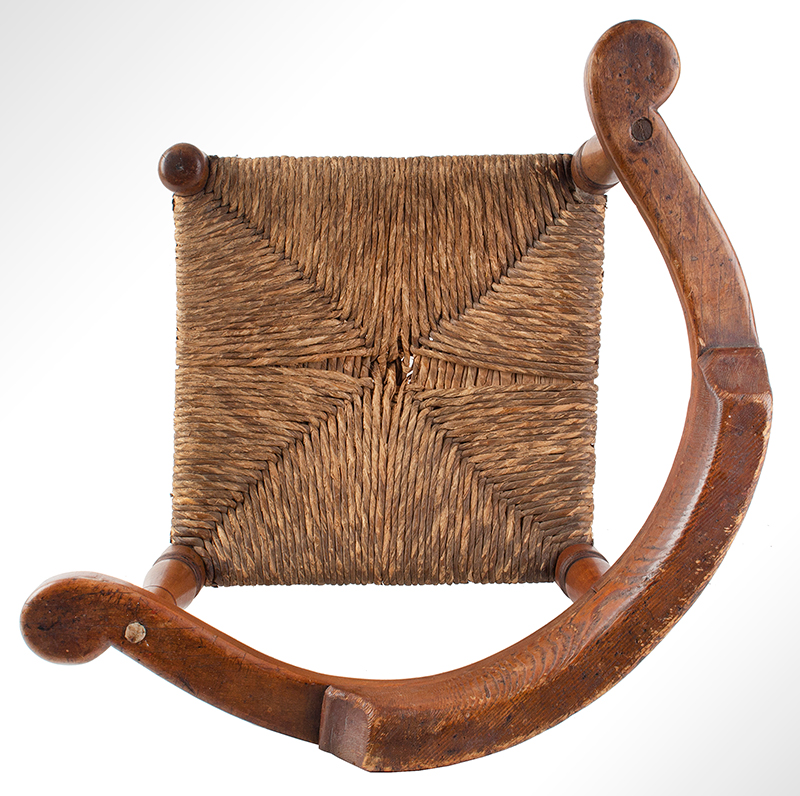 Child's Corner Chair, Youth's Round-A-Bout, RARE New England, 18th Century Maple and pine We have never seen another, entire view 5