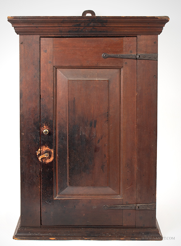 The interior features two original shelves; backboard is a single raised  panel. It appears that this cupboard may have been used ... - Antique Furniture_Cupboards, Built-in Cupboards, Corner Cupboards
