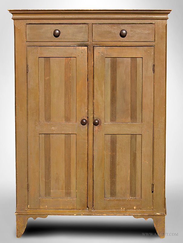 Jelly Cupboard, Wall-Cupboard, Original Paint History, Likely Pennsylvania,  Early 19th Century Poplar…with proportions similar to a well-balanced tall  chest - Antique Furniture_Cupboards, Built-in Cupboards, Corner Cupboards