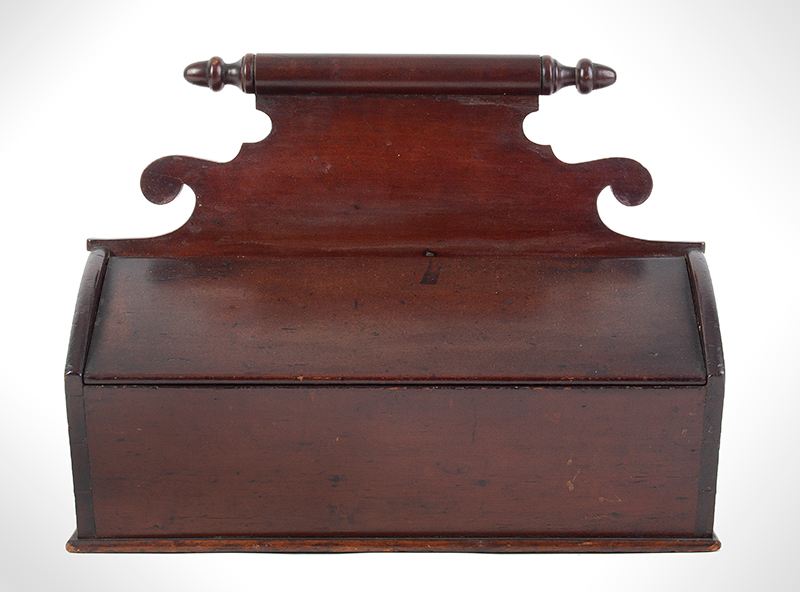 19th Century Cherrywood Cutlery Box New England, circa 1825-1840, entire view 1
