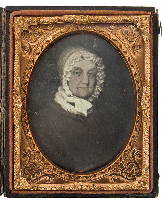 Daguerreotype, Photograph of Painting, Portrait of Older Woman Cleaned by Dennis Waters in 1994, entire view