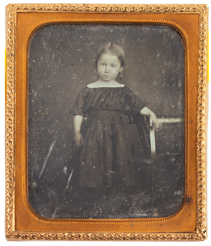 Daguerreotype, Little Girl, Sixth Plate Anonymous, Sixth Plate, entire view
