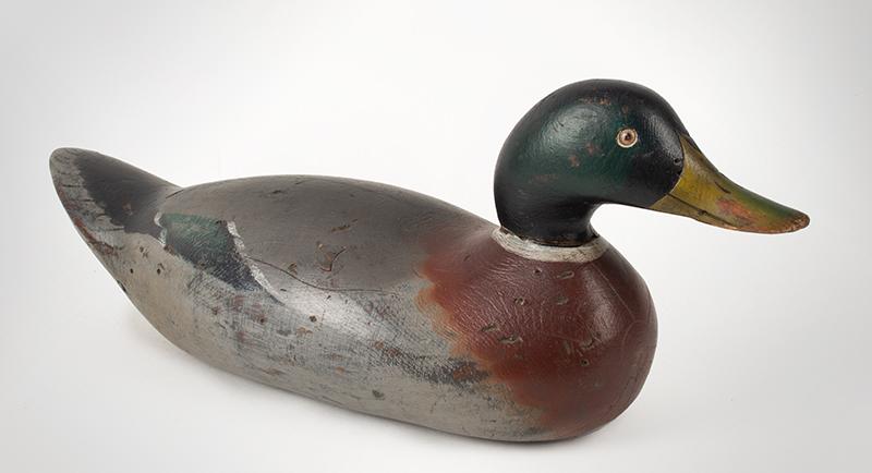Antique Duck Decoy, Mason Challenge Grade Mallard Drake Mason Decoy Factory, Detroit, Michigan, First Quarter, 20th Century, entire view 1