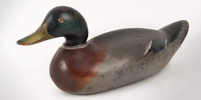Antique Duck Decoy, Mason Challenge Grade Mallard Drake Mason Decoy Factory, Detroit, Michigan, First Quarter, 20th Century, entire view 2