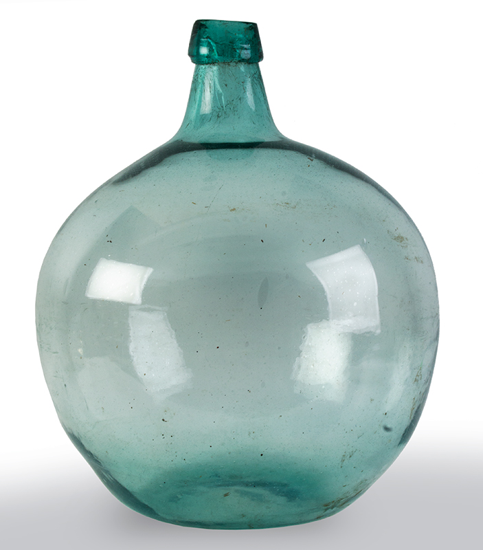 Massive Globular Demijohn Bottle, Art and Utility Combined   New England, Circa 1820, entire view 1