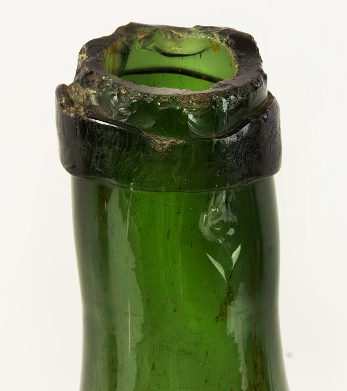 Antique Demijohn, Carboy Bottle, Utility Bottle European, Early…17th/18th Century, spout detail