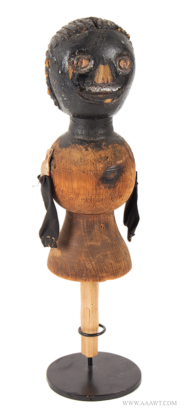 Carved Bedpost Doll, a Folk-Art Plaything <br>Carved from Old Bedpost, Original Paint