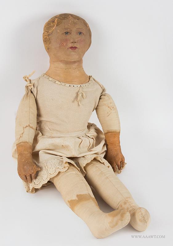 Antique Dolls Bisque And Cloth