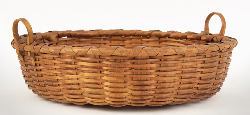 Double Handled Taconic Basket in Great Condition. Original Finish and Patina, entire view