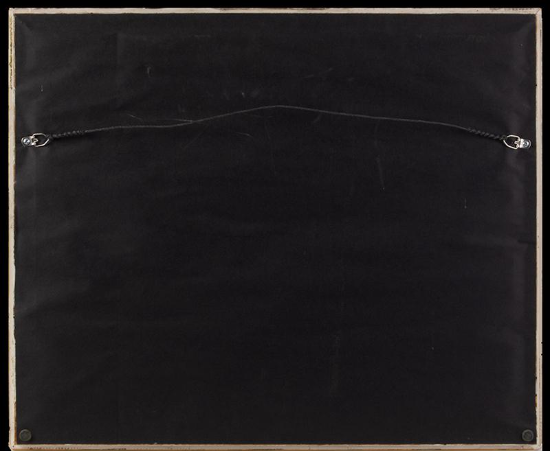 Spencerian Drawings on Single Sheet, Love Token to Cousin Mollie Flourished by J.W. Swank, Washington, D.C.  19th Century Nil desperandum [do not despair, never despair], back view