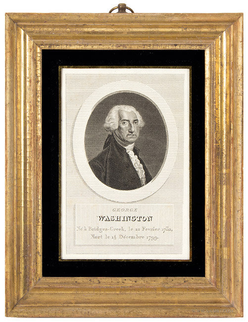 George Washington Engraving, With Gilt Frame, entire view
