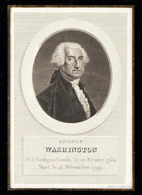 George Washington Engraving, With Gilt Frame, close up view
