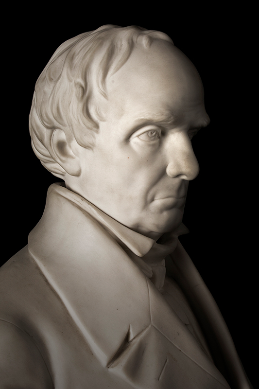 Daniel Webster, Parian Figure After Thomas Ball, G.W. Nichols, Boston, 1853, detail view 2