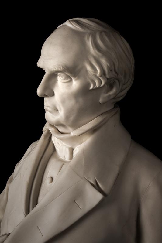 Daniel Webster, Parian Figure After Thomas Ball, G.W. Nichols, Boston, 1853, detail view 3