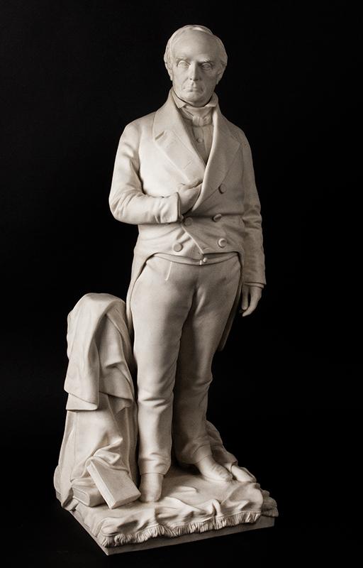 Daniel Webster, Parian Figure After Thomas Ball, G.W. Nichols, Boston, 1853, entire view 1